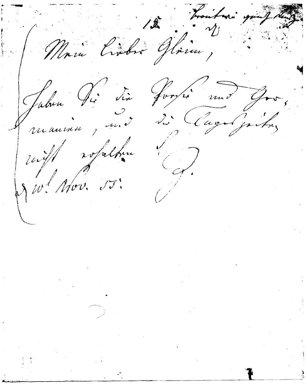 Brief J. F. W. Zachariaes an J.W.L. Gleim vom 10. November 1755 (Gleimhaus Halberstadt CC BY-NC-SA)