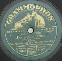 """Schallplatte 78 rpm ""Wiener Praterleben""  Provenance/Rights:  Kreismuseum Bitterfeld (CC BY-NC-SA)"