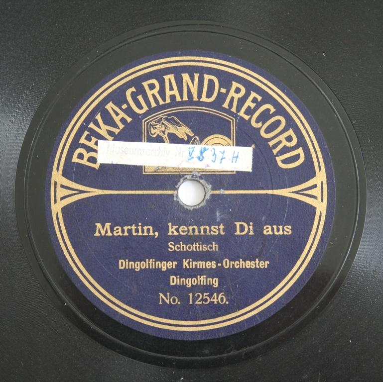 Schallplatte 78 Rpm Des Labels Beka Grand Record