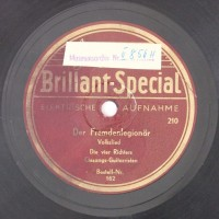 Schallplatte 78 rpm des Labels Brillant-Special