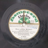 Schallplatte 78 rpm des Labels Homocord