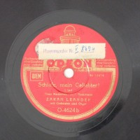 Schallplatte 78 rpm des Labels Odeon