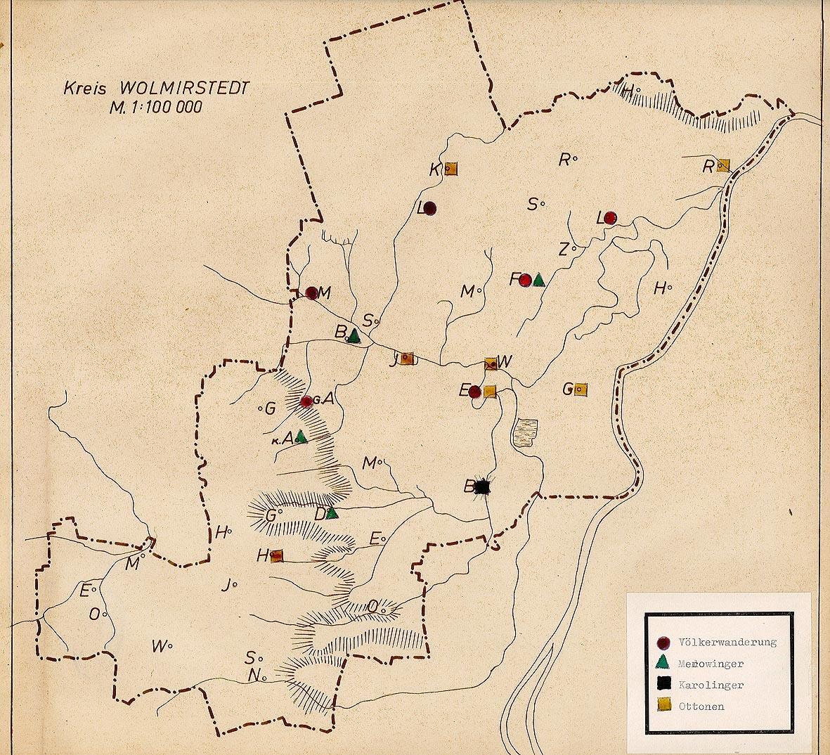 Karte Sachsen Anhalt Mit Flüssen.Karte Archäologischer Funde Der Völkerwanderungszeit Merowinger