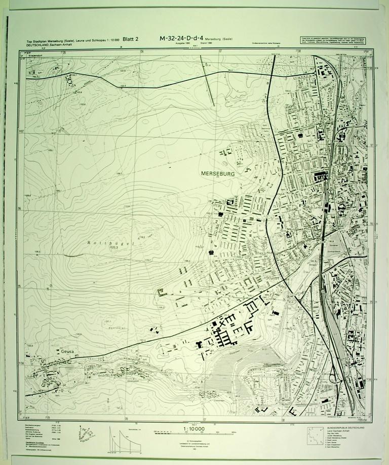 Merseburg Topographische Karte 1 10000 Kulturhistorisches
