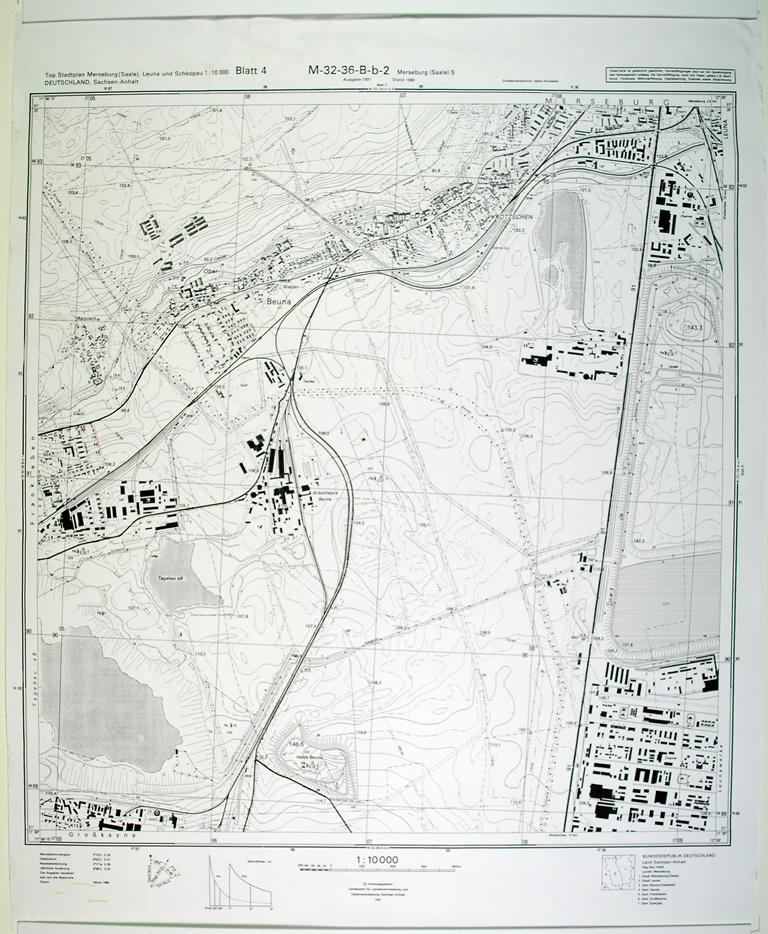 Merseburg Saale S Topographische Karte 1 10000