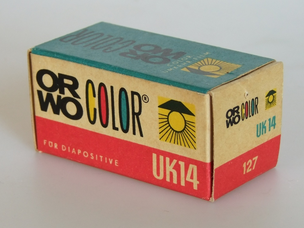 Orwo Color UK 14 127er Rollfilm (Industrie- und Filmmuseum Wolfen CC BY-NC-SA)