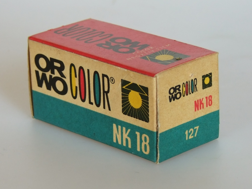 Orwo Color NK 18 127er Rollfilm (Industrie- und Filmmuseum Wolfen CC BY-NC-SA)