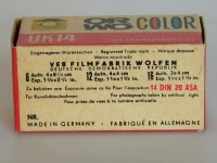 """Orwo Color UK 14 127er Rollfilm  Provenance/Rights:  Industrie- und Filmmuseum Wolfen (CC BY-NC-SA)"