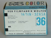 """Orwo Color NC 16 Kleinbildfilm  Provenance/Rights:  Industrie- und Filmmuseum Wolfen (CC BY-NC-SA)"