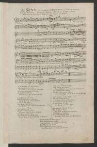 A song on the taking of Mont-Real by General Amherst : sung by Mr. ...