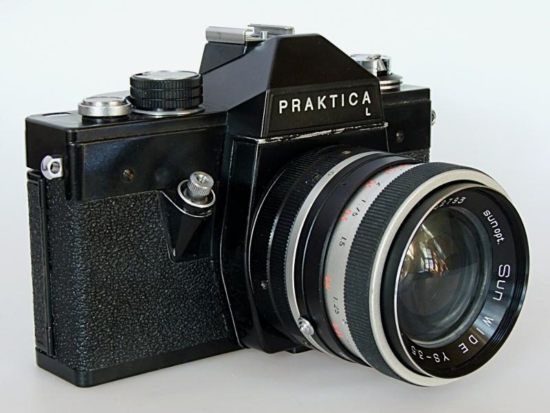 Camera pentacon praktica l carl zeiss jena tessar mm