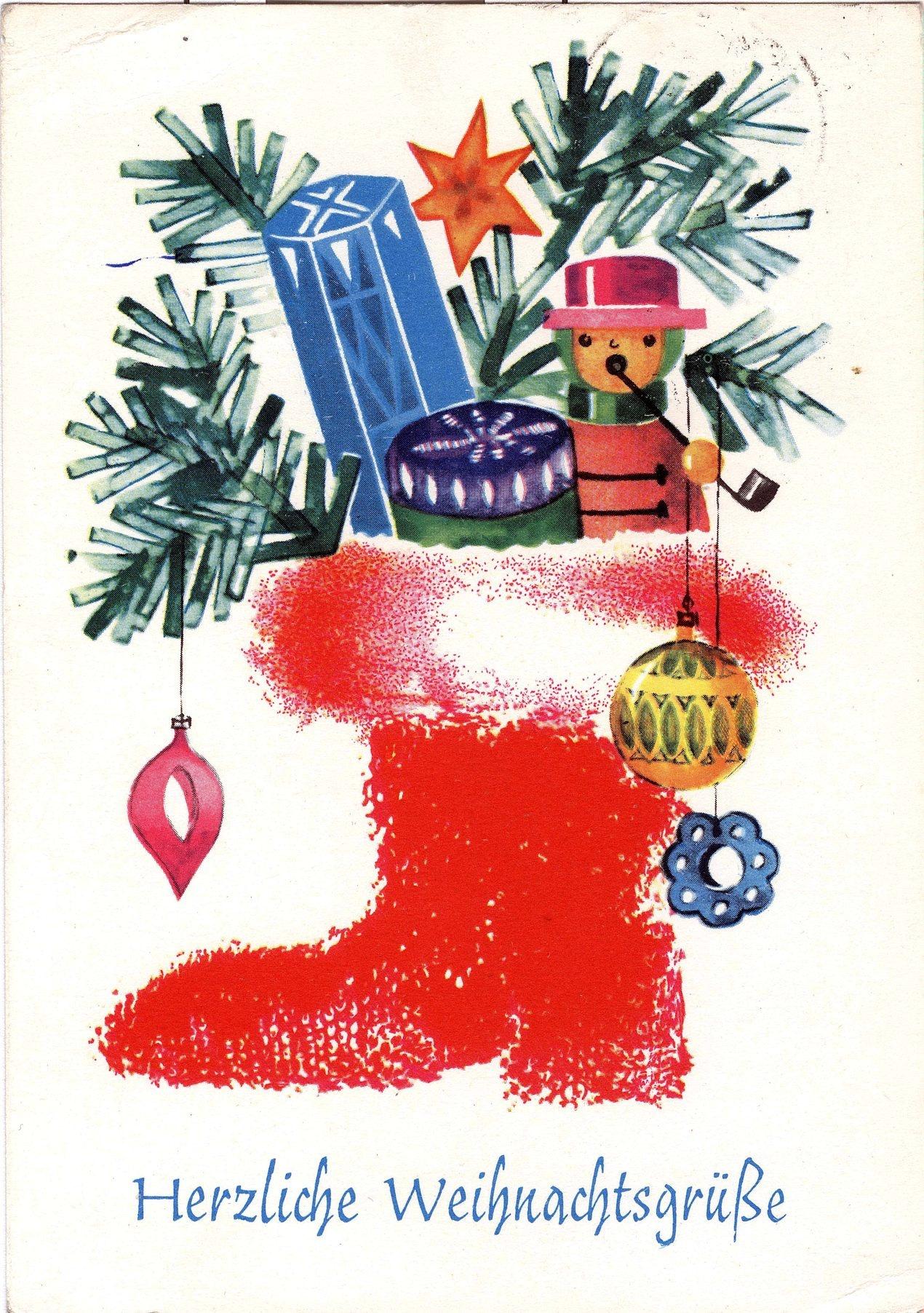 Herzliche Weihnachtswünsche.Postkarte Herzliche Weihnachtsgrüße Ddr Museum Weißenfels