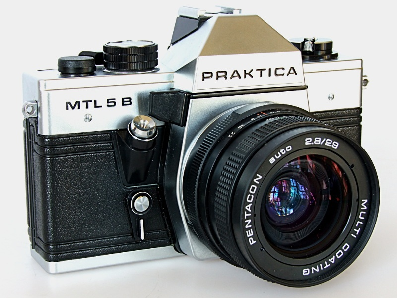 Praktica mtl camera with tessar f mm carl zeiss jena ddr