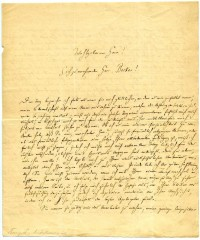 Brief von Robert Franz an Carl Ferdinand Becker