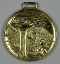 """Goldmedaille VII. Wintersportmeisterschaft 1956  Provenance/Rights:  Museum Wolmirstedt (RR-F)"