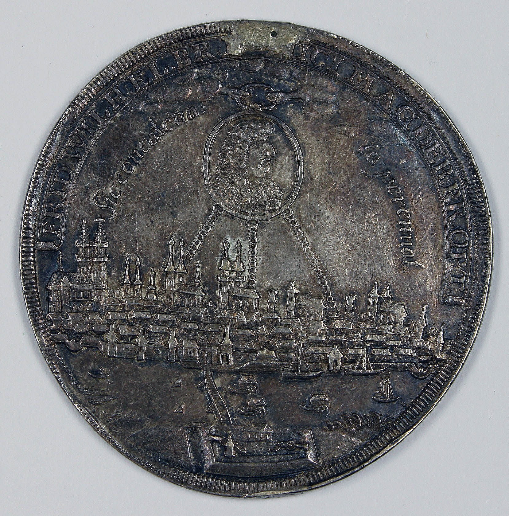 Medaille, Magdeburg,  1681 (Museum Wolmirstedt RR-F)