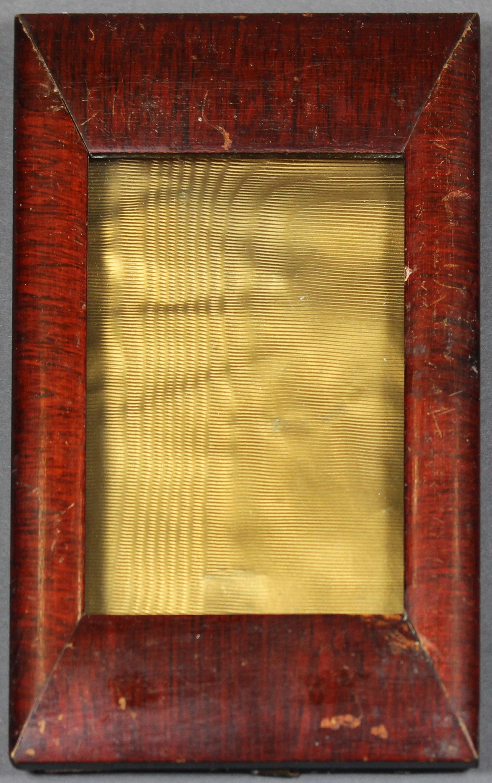 Bilderrahmen, Holz, innen goldfarbenes Papier :: Museum Wolmirstedt ...
