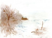 """Herbstmorgen am See"" (2002)"