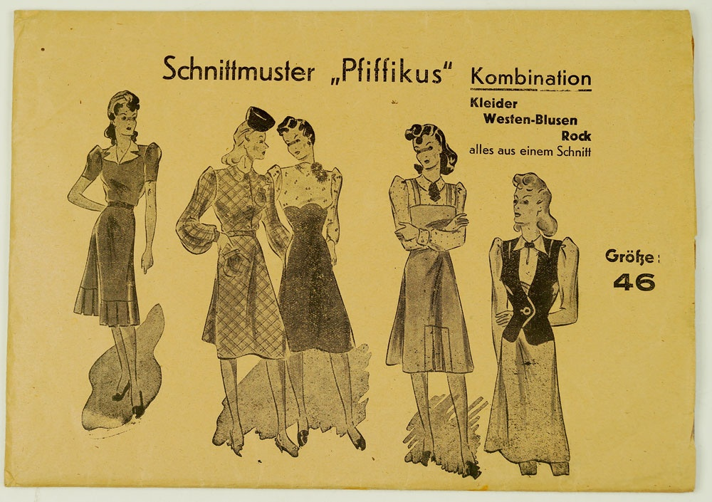 Umschlag mit Schnittmuster,ca. 1930-1940 :: Museum Weißenfels ...