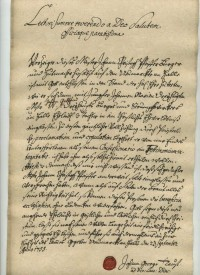 Attestat für Johann Christoph Pfeiffer vom 23. September 1755, ...