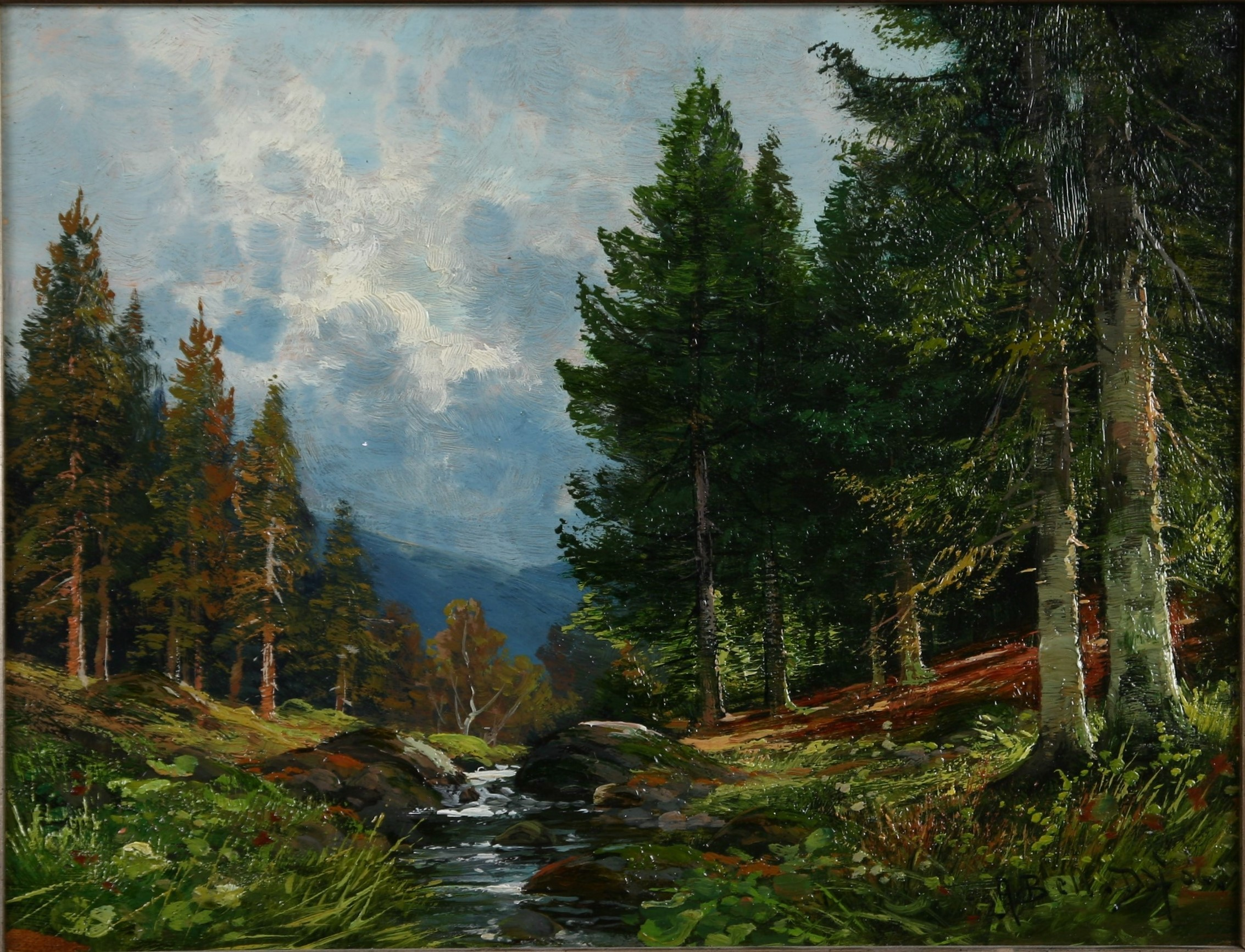 Das Ebersbachtal bei Sorge, 1906 (Harzmuseum Wernigerode CC BY-NC-SA)