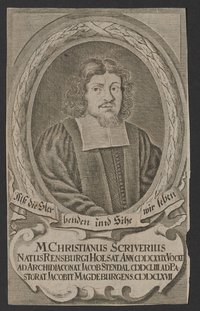 """Porträt Christian Scriver (1629-1693)  Provenance/Rights:  Stiftung Händelhaus, Halle (CC BY-NC-SA)"