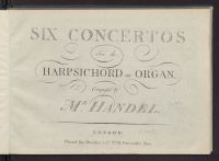 Six concertos for the harpsichord or organ