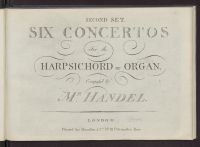 Six concertos for the harpsichord or organ : second set