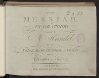 The Messiah : an oratorio