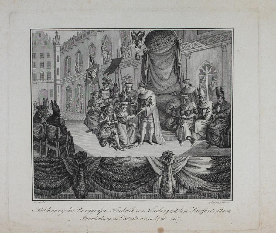 Darstellung Der Belehnung Des Burggrafen Friedrich Von