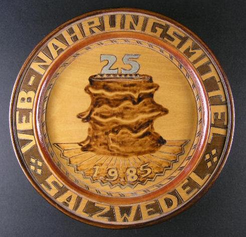 Wandteller VEB Nahrungsmittel Salzwedel