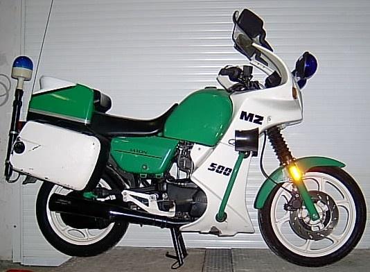 Motorrad MZ 500 R als Funkausführung Polizei