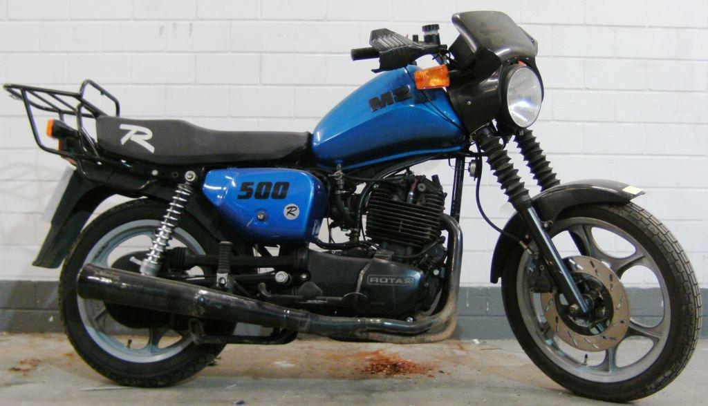 Motorrad MZ 500 RF Polizei :: Fahrzeugmuseum Staßfurt